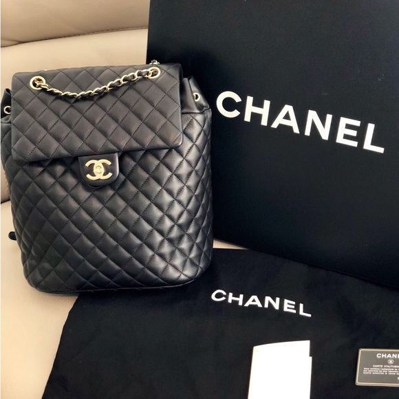 34f0ad0b46ba CHANEL Bags | Urban Spirit Large Lambskin Backpack Gold M | Poshmark